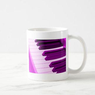 Fusha rosa Klavier oder Organ-Tastatur Kaffeetasse