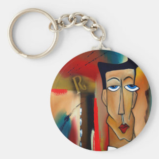 Fusion-abstrakte Kunst Schlüsselanhänger