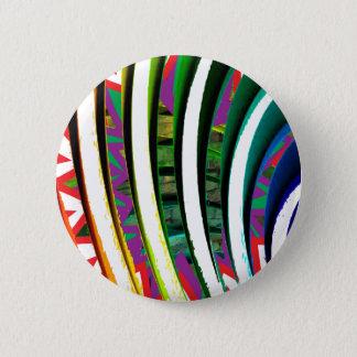 Fusion kurvt Muster-moderne grafische Kunst Runder Button 5,1 Cm