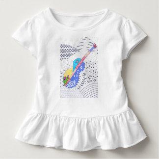 Fusionsgekritzel von Farben und Schwarzweiss Kleinkind T-shirt