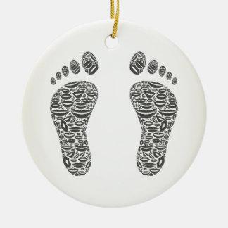 Fuß eine Lippe Keramik Ornament