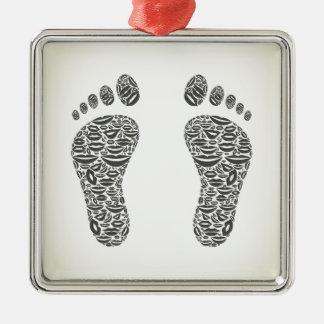 Fuß eine Lippe Silbernes Ornament