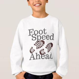 Fuß-Geschwindigkeits-voran T - Shirt, der Sweatshirt