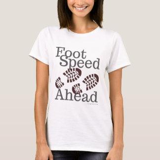Fuß-Geschwindigkeits-voran T - Shirt, der T-Shirt