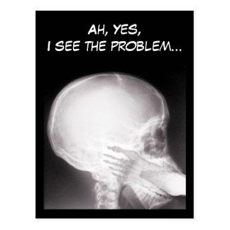 Fuß im Mund-Röntgenstrahl Postkarte