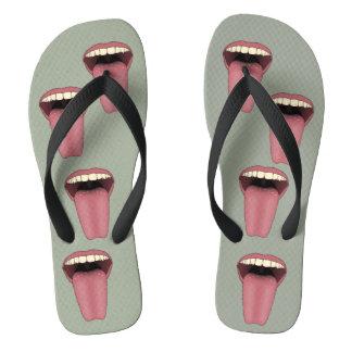 Fuß lecken flip flops