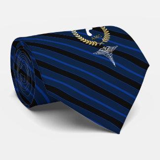 Fußarzt-kundenspezifische Monogramm-Marine Personalisierte Krawatte