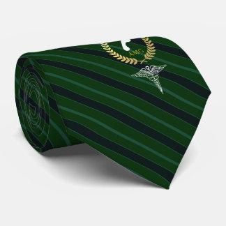 Fußarzt-kundenspezifisches Monogramm-Grün Krawatten