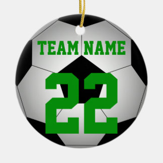 Fußbalball-Teamname personalisiert Keramik Ornament
