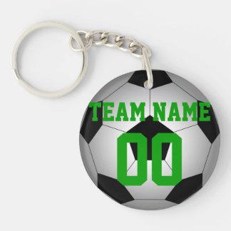 Fußbalball-Teamnamenzahl personalisiert Schlüsselanhänger