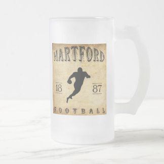 Fußball 1887 Hartfords Connecticut Mattglas Bierglas