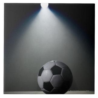 Fußball 2 große quadratische fliese