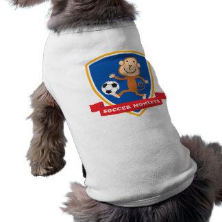 Fußball-Affe-Maskottchen-Shirt Top