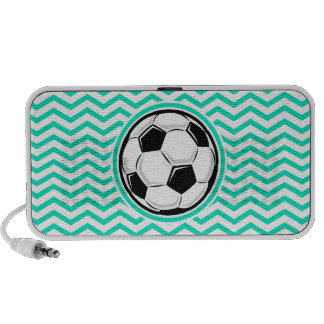 Fußball Aqua-grünes Zickzack Mini Lautsprecher