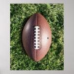 Fußball auf Gras Plakatdruck