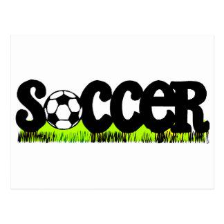 Fußball (auf Gras) Postkarte