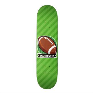 Fußball auf grünen Streifen Skateboard Deck