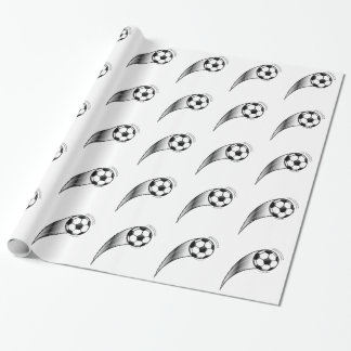 Fußball auf Weiß Geschenkpapier