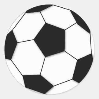 Fußball Runder Aufkleber