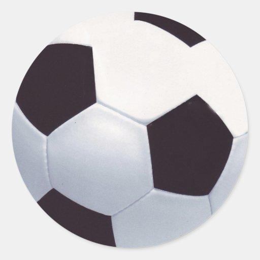 Fußball-Aufkleber Runder Aufkleber