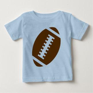 FUSSBALL-BABY hellblaue   vordere Fußball-Grafik Baby T-shirt