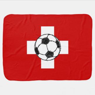 Fußball-Ball die Schweiz-Flaggen-| Puckdecke