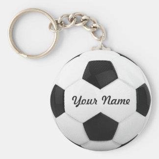 Fußball-Ball-personalisierter Name Standard Runder Schlüsselanhänger