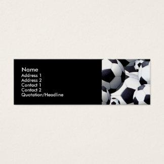 Fußball-Ball-Visitenkarten Mini-Visitenkarten