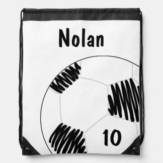 Fußball-Ball zeichnen Schnur-Tasche = Sportbeutel