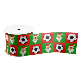 Fußball-Bälle u. niedliches Weihnachtsband Satinband