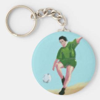 Fußball-Bewegungs-Kunst Schlüsselanhänger