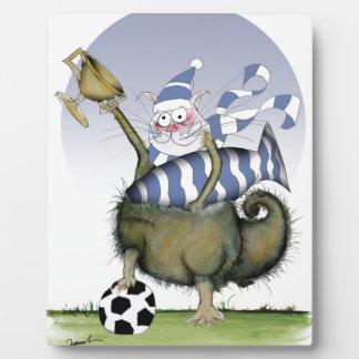 Fußball-Blues Kitty Fotoplatte