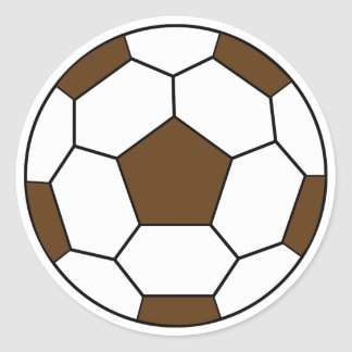 Fußball-Brown-Aufkleber Runder Aufkleber