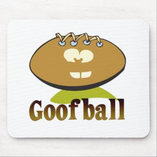 Fußball-Cartooncharakter des GOOFBALL lustiger Mauspads