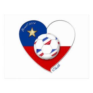"""Fußball """"CHILE"""" 2014. Nationaler Chilean Team socc Postkarten"""
