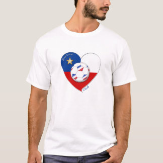 "Fußball ""CHILE"" 2014. Nationaler Chilean Team T-Shirt"