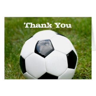 Fußball danken Ihnen Karte