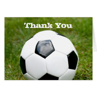 Fußball danken Ihnen Mitteilungskarte