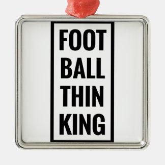Fußball denken König oder das Fußballdenken? Silbernes Ornament