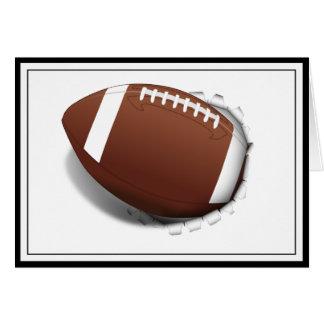 Fußball, der heraus zerreißt karte