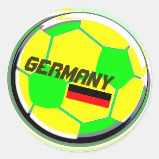 Fußball Deutschland Runder Aufkleber
