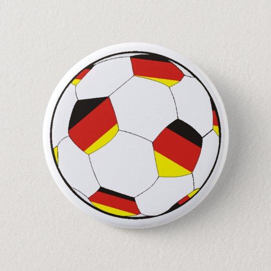 Fussball Deutschland Runder Button 5,1 Cm
