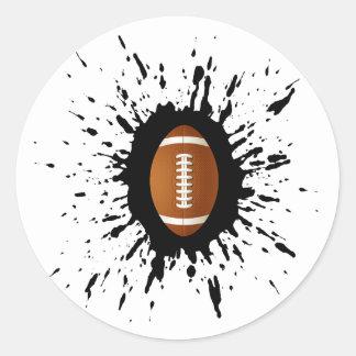 Fußball-Explosion Runder Aufkleber