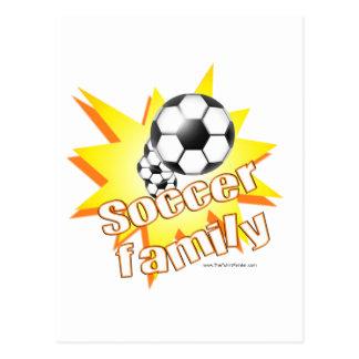 Fußball-Familie Postkarte
