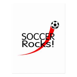Fußball-Felsen Postkarte