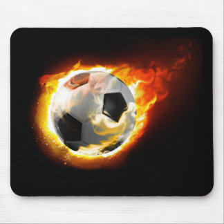Fußball-Feuer-Ball-Mausunterlage Mousepad