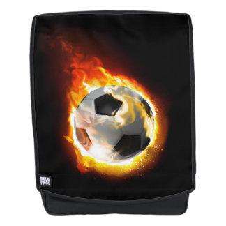 Fußball-Feuer-Ball-Schrift-Rucksack Rucksack