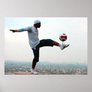 Fußball-Freistil Poster
