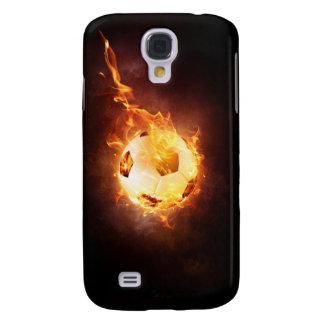 Fußball, Fußball, Ball unter Feuer Galaxy S4 Hülle