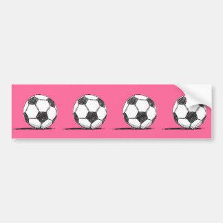 Fußball, Fußball, Fussball, Mannschaftssport Autoaufkleber